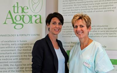 Actress Heather Peace Joins the Agora Clinic at Pride Parade